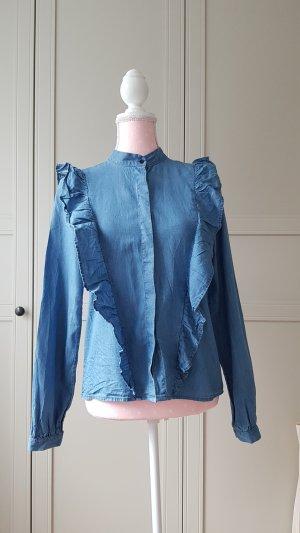 H&M Denim Blouse cornflower blue