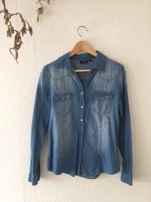 Jeans blouse donkerblauw-blauw