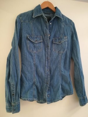 Guess Denim Shirt blue cotton