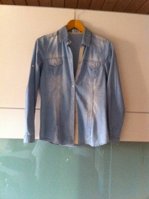 Jeans Bluse, helles blau