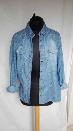 Jeans Bluse  Hemd Punkte zero S