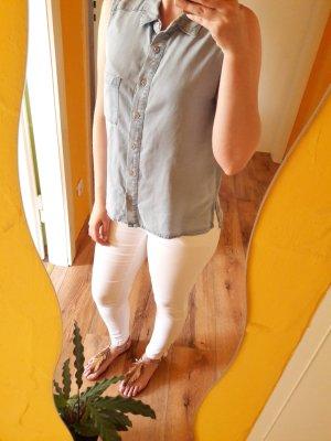 Jeans Bluse Hemd Top blau Gr. S