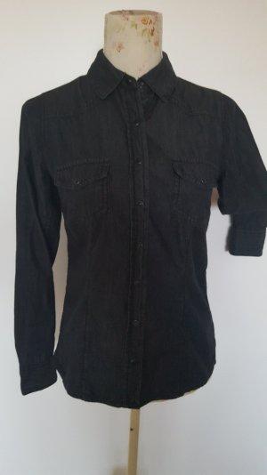 Jeans-Bluse / Jeans-Hemd anthrazit Gr. 36