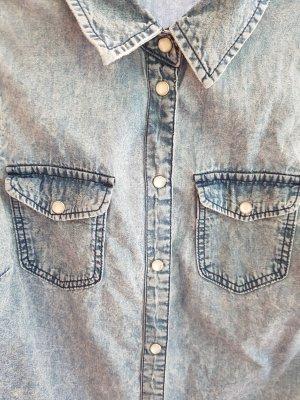 Jeans-Bluse, kurzärmlig