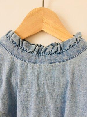 Jeans Bluse mit Rüschchen