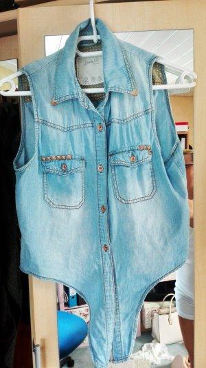 jeans bluse zum knöpfen