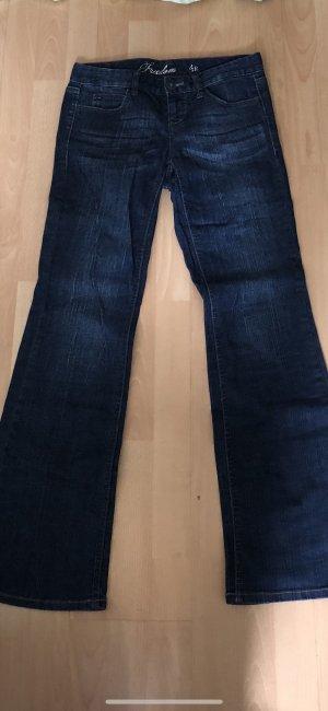Boot Cut Jeans dark blue-blue