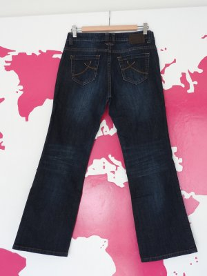 Jeans Bootcut Denim Dunkeblau Washout Gr. 36 S.Oliver