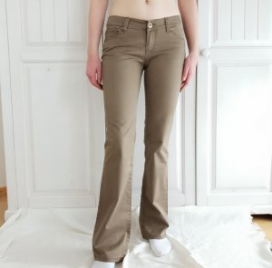 Jeans Braun Beige 29 38 M Nude Hose Weites Bein Pants true vintage Fishbone