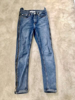 WRSTBHVR Stretch jeans korenblauw