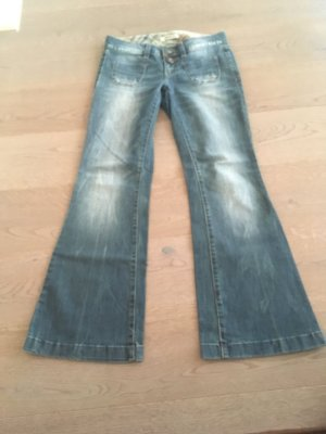 Esprit Jeans flare bleu fluo