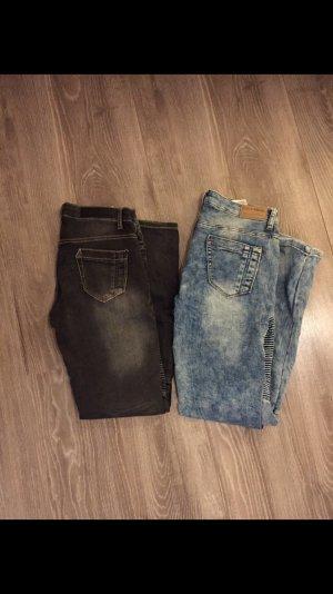 Takko Stretch jeans korenblauw-zwart
