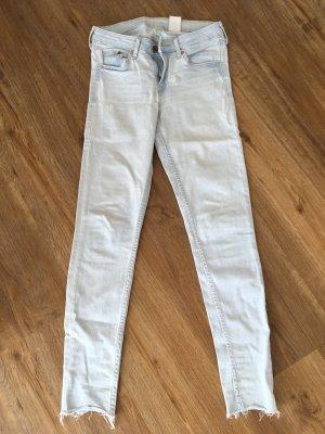 H&M Jeans skinny celeste-azzurro Cotone