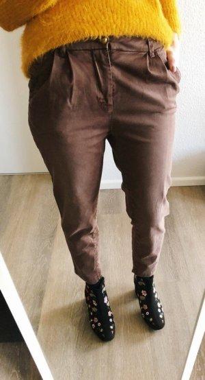 Monocrom Boyfriend jeans roodbruin-roodbruin Katoen