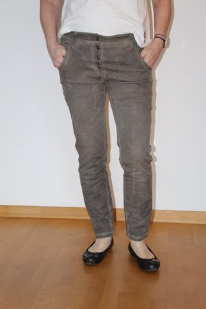 Boyfriend Trousers grey brown mixture fibre