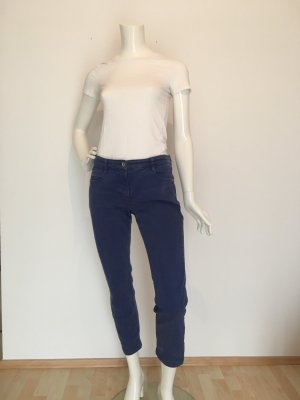 Jeans color denim crop cropped ankle 7/8 Hose Jeans Denim Five Pocket Designer Marke Luxus Qualität hochwertig Stretch bequem mom  colored denim Five Pocket blau dunkelblau royalblau 38 Orwell