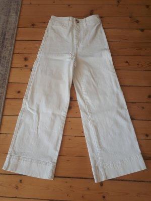H&M Pantalone culotte bianco