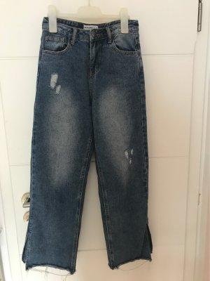 24Colours Pantalone culotte blu-blu scuro