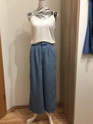 Jeans Culotte mit Knopfleiste