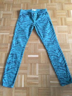 Jeans Current/Elliott schwarz/grün Zebramuster 25