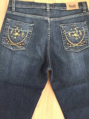 Dolce & Gabbana Pantalon cinq poches bleu foncé