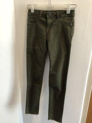 Bershka Stretch jeans groen-grijs