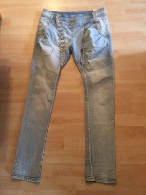 Mozzaar Jeans boyfriend azzurro