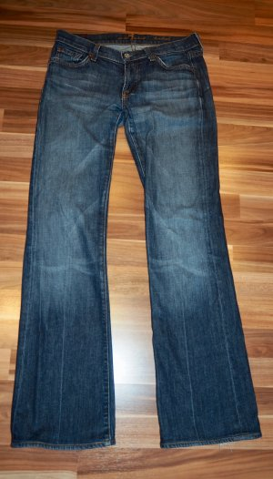 7 For All Mankind Vaquero de corte bota azul