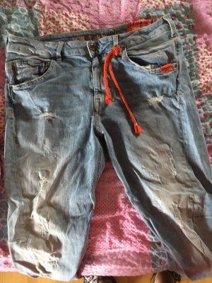 Adenauer & Co Jeans boyfriend azzurro