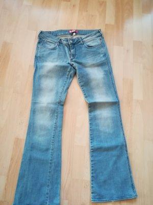 Jeans flare bleu clair