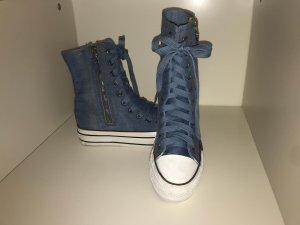 Jeans Damen Sneakerstiefel