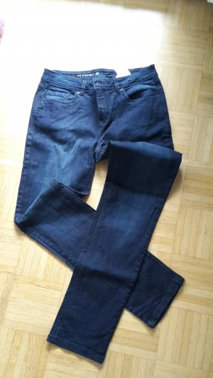 C&A Straight Leg Jeans dark blue cotton