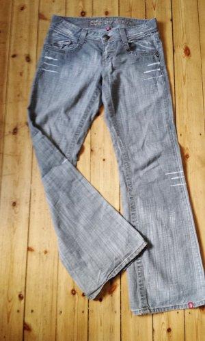 Jeans Denim Gr. 36 Hellgrau EDC by Esprit Boyfriend Style, wie NEU