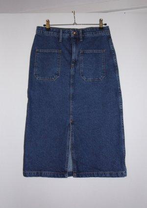 Jeans- /Denim-Midirock mit Frontschlitz Mango