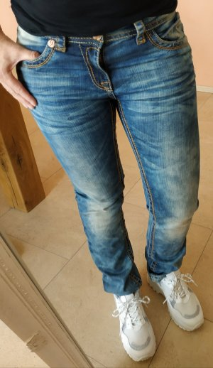 Blue Monkey Slim Jeans azure-steel blue cotton