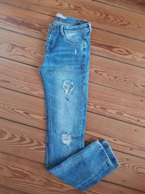 Jeans destroyed Skinny Denim Bluejeans Zara Stonewashed