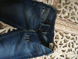 Diesel Jeans a gamba dritta blu scuro-blu acciaio