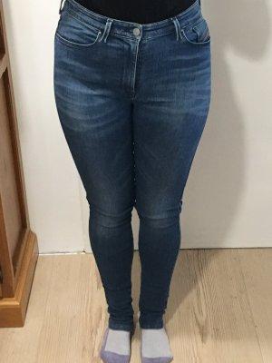 Diesel Hoge taille jeans blauw