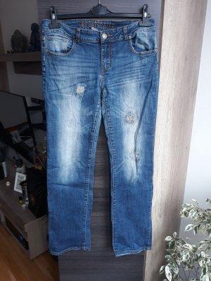 Takko Straight Leg Jeans blue