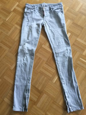 Jeans Dsquared hellgrau destroyed 34