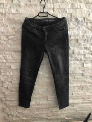Yessica Biker jeans donkergrijs-zwart