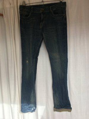 jeans dunkel blau bräunliche waschung s.oliver tube