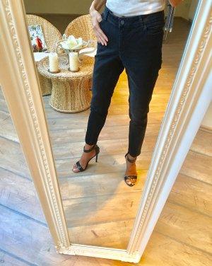 Madeleine Hoge taille jeans donkergrijs-antraciet