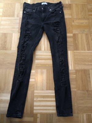 Jeans, dunkelgrau, Mango, Gr. 38