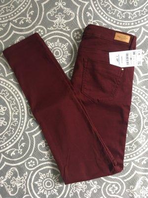 Jeans dunkelrot bordeaux Zara