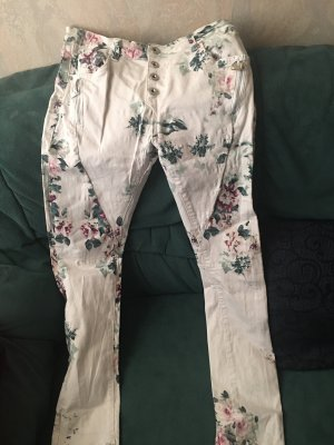 Luxury by ZERRES High Waist Trousers white