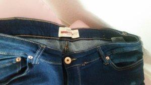Janina Jeans de moto bleu foncé coton