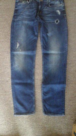 H&M Boyfriend jeans korenblauw Katoen