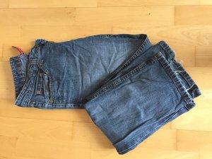His Jeans met rechte pijpen blauw-lichtblauw Katoen