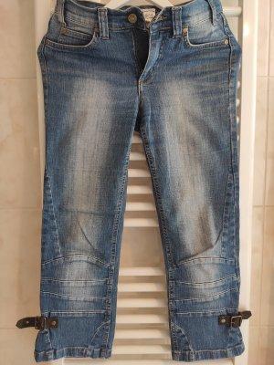 Heine 7/8 Length Jeans brown-steel blue